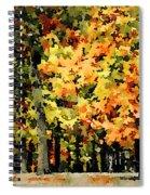 Autumn In Olde Virginia Spiral Notebook