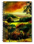 Autumn In Our Village Ardennes Spiral Notebook