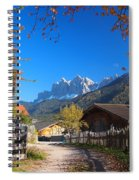 Autumn In South Tyrol Spiral Notebook