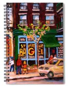 Autumn In The City Spiral Notebook