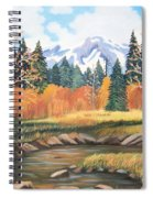 Autumn In The Mountans Spiral Notebook