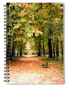 Autumn In The Park Spiral Notebook