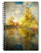 Autumn In The Pond Spiral Notebook