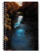 Autumn In The Tributary Spiral Notebook