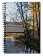 Autumn In Valley Forge - Knox Covered Bridge Spiral Notebook