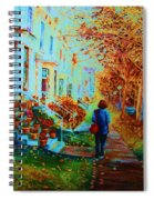 Autumn In Westmount Spiral Notebook