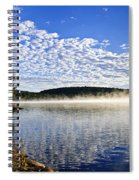 Autumn Lake Shore With Fog Spiral Notebook