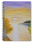 Autumn Lake Sunset  Spiral Notebook