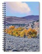 Autumn Landscape In Northern Nevada. Spiral Notebook