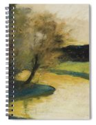 Autumn Landscape Of Brook In The Evening Light Spiral Notebook