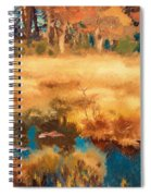Autumn Landscape With Fox Spiral Notebook