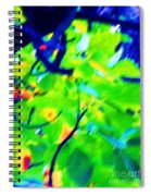 Autumn Leaf Abstract Spiral Notebook