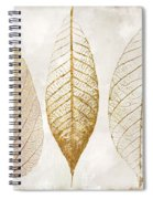 Autumn Leaves IIi Fallen Gold Spiral Notebook