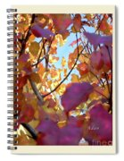 Autumn Leaves In Blue Sky Spiral Notebook