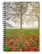 Autumn Leaves Near To Far Super High Resolution Spiral Notebook