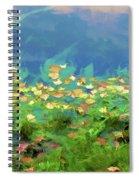 Brown Leaves Scattered Spiral Notebook