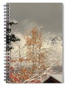 Autumn Leaves Winter Snow Spiral Notebook