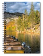 Autumn Light At The Lake Spiral Notebook