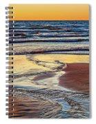 Autumn Merging - Sauble Beach 6 Spiral Notebook