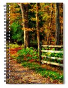 Autumn Moment - Allaire State Park Spiral Notebook