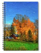 Autumn Moon Rising Spiral Notebook