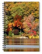 Autumn On Canoe Brook Lake Spiral Notebook