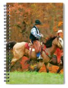 Autumn On Horseback Spiral Notebook