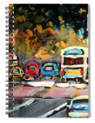 Autumn On The Boulevard Spiral Notebook