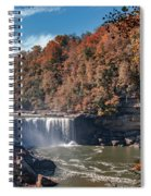 Autumn On The Cumberland  Cumberland Falls Spiral Notebook