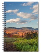 Autumn On The Farm Panorama Spiral Notebook