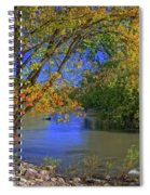 Autumn On The North Raccoon Spiral Notebook