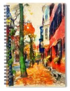 Autumn On The Streets Of Boston Spiral Notebook