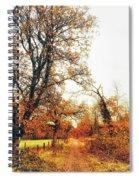 Autumn On White Spiral Notebook