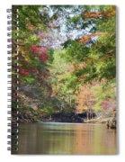 Autumn Over Golden Waters Spiral Notebook