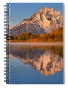 Autumn Oxbow Bend Reflections Spiral Notebook