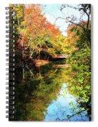 Autumn Park With Bridge Spiral Notebook