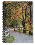 Autumn Path In Park In Maryland Spiral Notebook