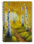 Autumn Path Spiral Notebook