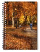 Autumn - People - A Walk In The Park Spiral Notebook