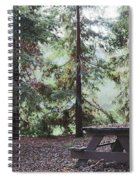 Autumn Picnic In The Woods  Spiral Notebook