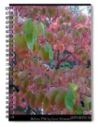 Autumn Pink Poster Spiral Notebook