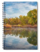 Autumn Pond Spiral Notebook
