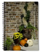 Autumn Porch Scene Spiral Notebook