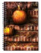 Autumn - Pumpkin - Three Pumpkins Spiral Notebook