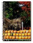 Autumn Pumpkins And Cornstalks Graphic Effect Spiral Notebook