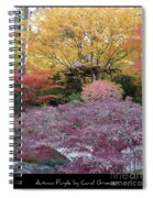 Autumn Purple Spiral Notebook