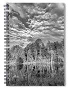 Autumn Reflection 2 Bw Spiral Notebook