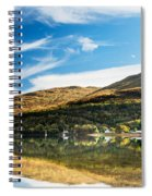 Autumn Reflection, Loch Long Spiral Notebook