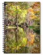 Autumn Reflection On Florida River Spiral Notebook