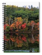 Autumn Reflections And Cabin On Baker Pond Spiral Notebook